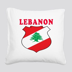 Lebanon Coat Of Arms Designs Square Canvas Pillow