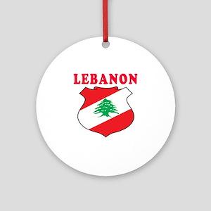 Lebanon Coat Of Arms Designs Ornament (Round)