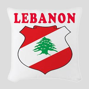 Lebanon Coat Of Arms Designs Woven Throw Pillow