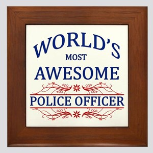 World's Most Awesome Police Officer Framed Tile