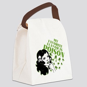 My Favorite Flavor Is Poison Canvas Lunch Bag