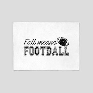 Fall means Football 5'x7'Area Rug