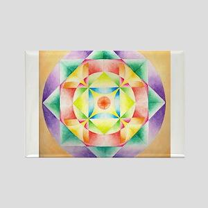 Lotus Mandala Rectangle Magnet