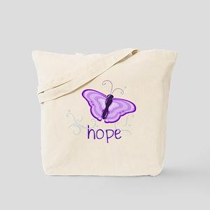 Hope Floats in Purple Tote Bag