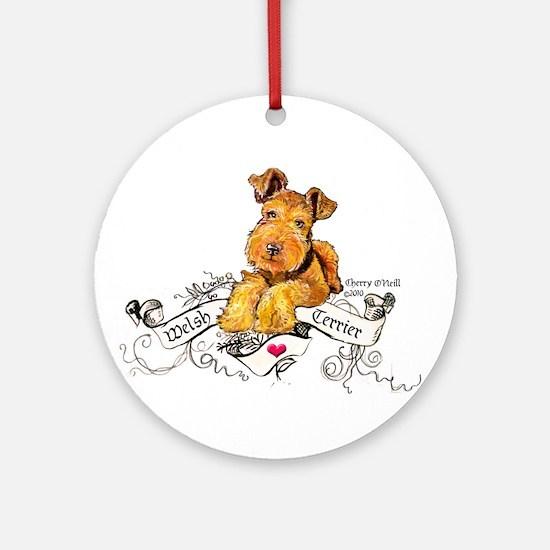 Welsh Terrier World Round Ornament