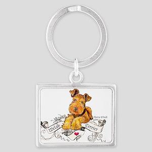 Welsh Terrier World Landscape Keychain
