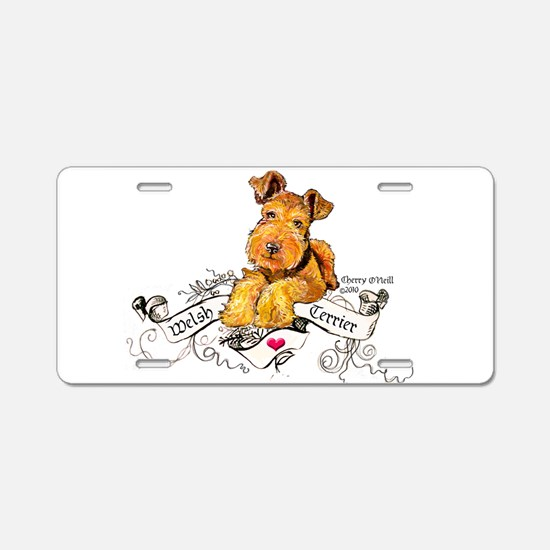 Welsh Terrier World Aluminum License Plate