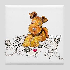 Welsh Terrier World Tile Coaster