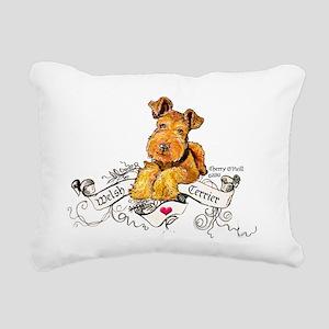 Welsh Terrier World Rectangular Canvas Pillow