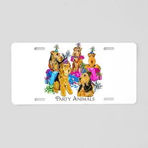 Welsh Terrier Party Aluminum License Plate