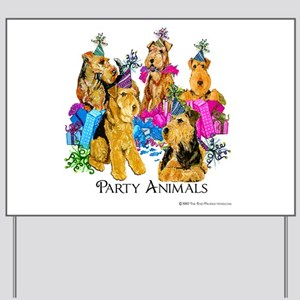 Welsh Terrier Party Yard Sign
