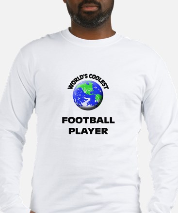 World's Coolest Football Player Long Sleeve T-Shir