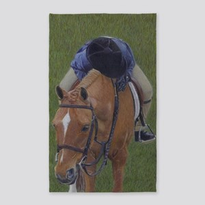 Young Girl and Pony 3'x5' Area Rug