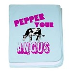 Pepper Your Angus baby blanket