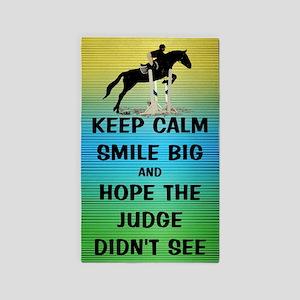 Keep Calm, Smile Big Horse Show 3'x5' Area Rug