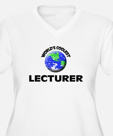 World's Coolest Lecturer Plus Size T-Shirt