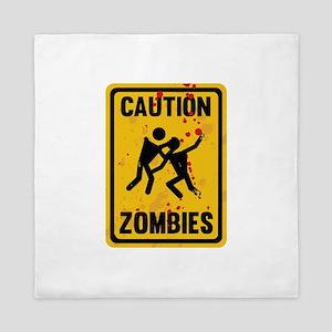 Caution Zombies Queen Duvet