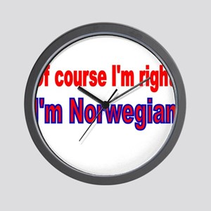 Of course Im right Wall Clock
