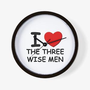 I love the three wise men Wall Clock