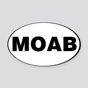 MOAB Oval Car Magnet