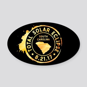 Eclipse S. Carolina Oval Car Magnet