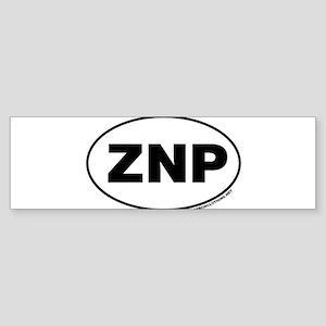 Zion National Park, ZNP Bumper Sticker