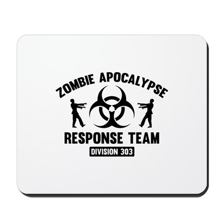Zombie Apocalypse Response Team Mousepad by FunniestSayings