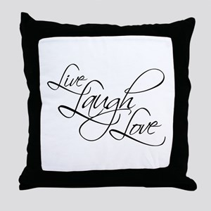Live, Laugh, Love - Throw Pillow
