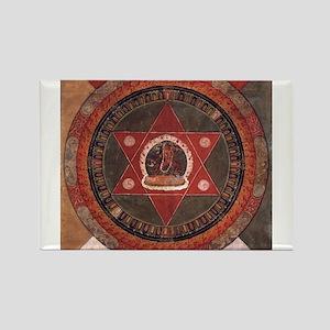 Tibetan Mandala Rectangle Magnet