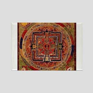 Buddhist Mandala Rectangle Magnet