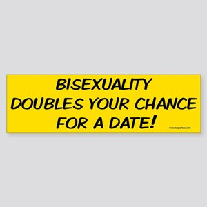 Bisexual Bumper Sticker funny saying