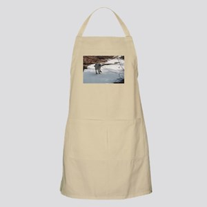 """I Love The Snow, Lets Play"" Apron"