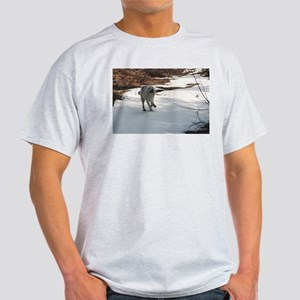 """I Love The Snow, Lets Play"" Light T-Shirt"