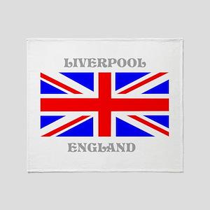 Liverpool England Throw Blanket