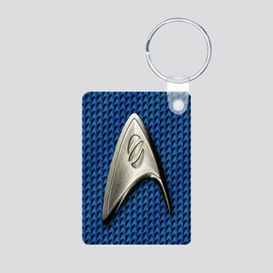 Star Trek Blue Sciences Aluminum Photo Keychain
