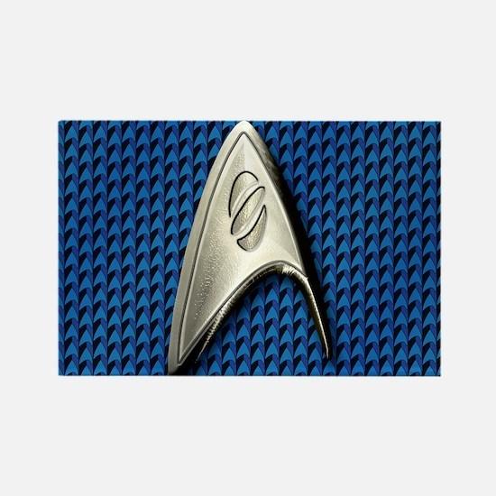 Star Trek Blue Sciences Rectangle Magnet