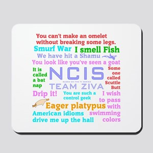NCIS Ziva Quotes Mousepad