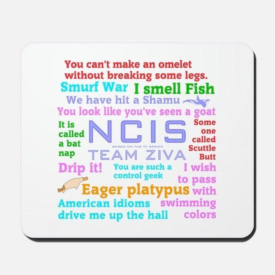 NCIS Ziva Quotes Mousepad