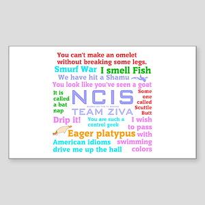 NCIS Ziva Quotes Sticker