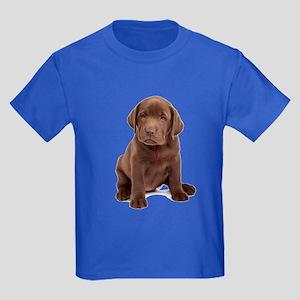Chocolate Labrador Puppy Kids Dark T-Shirt