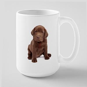Chocolate Labrador Puppy Large Mug