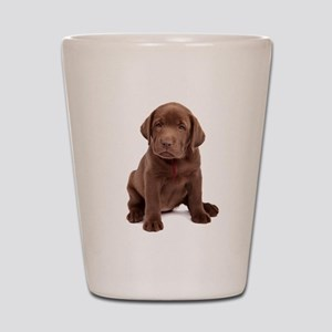 Chocolate Labrador Puppy Shot Glass
