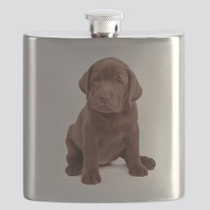 Chocolate Labrador Puppy Flask