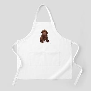 Chocolate Labrador Puppy Apron