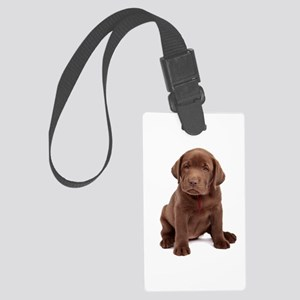 Chocolate Labrador Puppy Large Luggage Tag