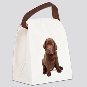 Chocolate Labrador Puppy Canvas Lunch Bag