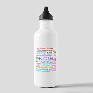 NCIS Ziva Quotes Water Bottle