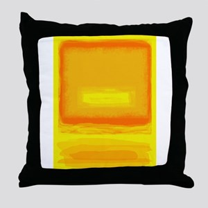 Colorfield Yellow after Rothko Throw Pillow