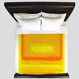 Colorfield Yellow after Rothko King Duvet