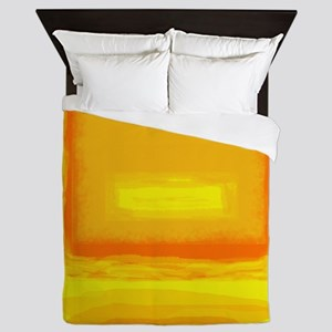 Colorfield Yellow after Rothko Queen Duvet